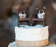 Rustic cake with burlap