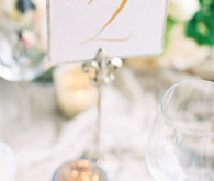 Gold and white table number