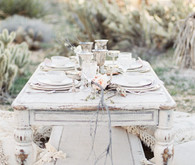 Pastel dessert wedding tablescape