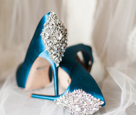 Blue and diamond heels