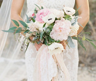 Blush and cream chic bouquet