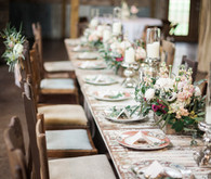 Chic barn tablescape