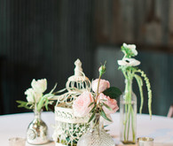 Chic blush table decor