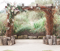Ceremony twig and floral altar