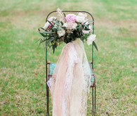 Blush chic bouquet with lace