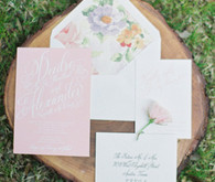 Blush invitation set