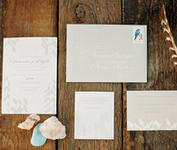 Beige Bohemian invitations