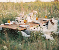 Bohemian ranch lounge and tablescape