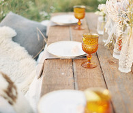 Bohemian ranch burnt orange glassware