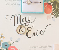 Wedding ring and invitation
