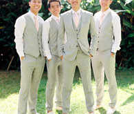 Grey and white groomsmens