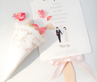 White and pink ceremony program