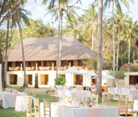 Bali beach reception