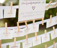Clothespin white escort cards