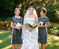 Garden bridesmaids photo