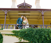 Terrace wedding portrait