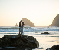 Oregon coast engagement photo