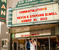 Cinema wedding portrait