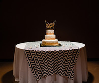 Navy, gold and black cake table