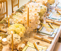 New Years gold tablescape
