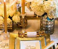 New Years gold place setting