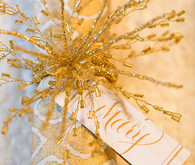 New Years gold escort card