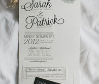 White and black invitation