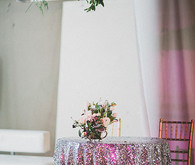 New Year's Eve wedding tablescape