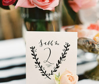 Black and gold table number