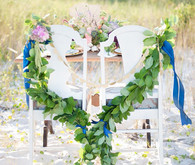 Nautical wedding chair decor