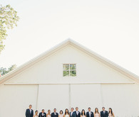 Modern ranch wedding party photos