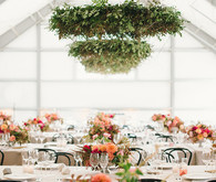 Modern ranch wedding reception
