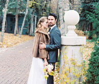 Classic wedding outdoor portrait
