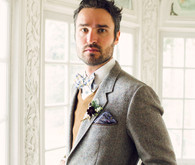 Groom in tweed jacket