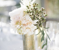 Delicate olive branch centerpiece