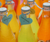 Modern Mexican wedding soda escort cards
