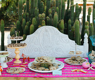 Modern Mexican themed dessert table