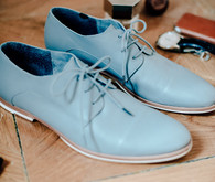 Blue grooms shoes