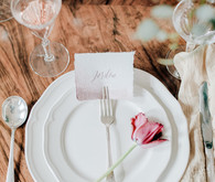 Watercolor placecards