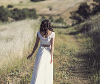 Two-piece wedding dress