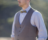 Vest and bowtie grooms attire