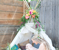 Boho baby shower on 100 Layer Cakelet