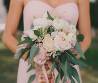 Blush bridesmaid bouquets