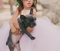Punk tulle flower girl