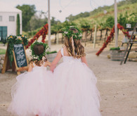 Pink tulle flower girls