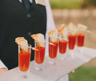 Tomato soup and grilled cheese shooters
