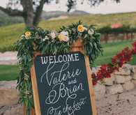 HammerSky Vineyards wedding signage
