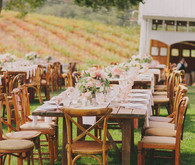 Rustic wedding tablescape