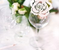 Rose diet place card