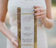 Rustic and romantic vineyard wedding menu